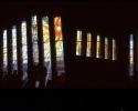 Stain glass window in Skryne Church - panorama
