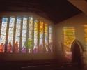 Stain glass window in Skryne Church