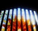Stain glass window in Skryne Church